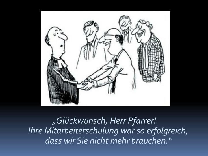 """""""Glückwunsch, Herr Pfarrer!"""