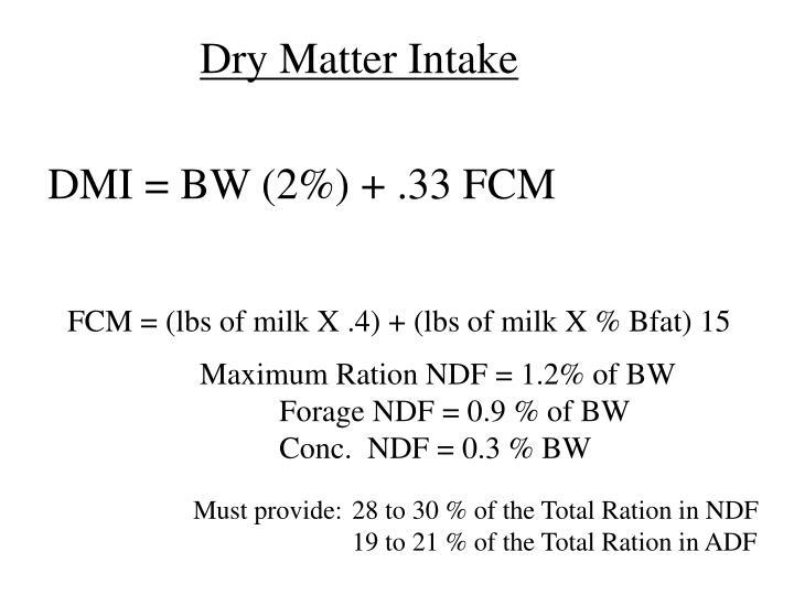 Dry Matter Intake