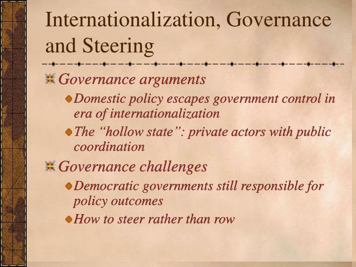 Internationalization, Governance and Steering