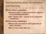 internationalization governance and steering