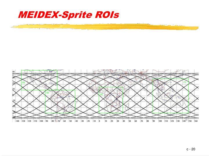MEIDEX-Sprite ROIs