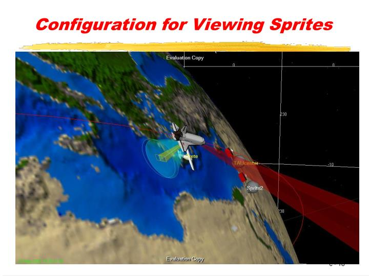 Configuration for Viewing Sprites