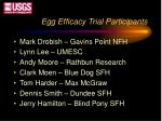 egg efficacy trial participants