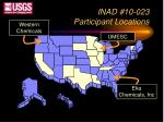 inad 10 023 participant locations