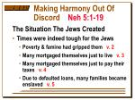 making harmony out of discord neh 5 1 19