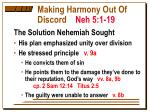 making harmony out of discord neh 5 1 194
