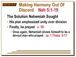 making harmony out of discord neh 5 1 197