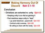 making harmony out of discord neh 5 1 199