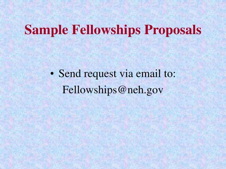 Sample Fellowships Proposals