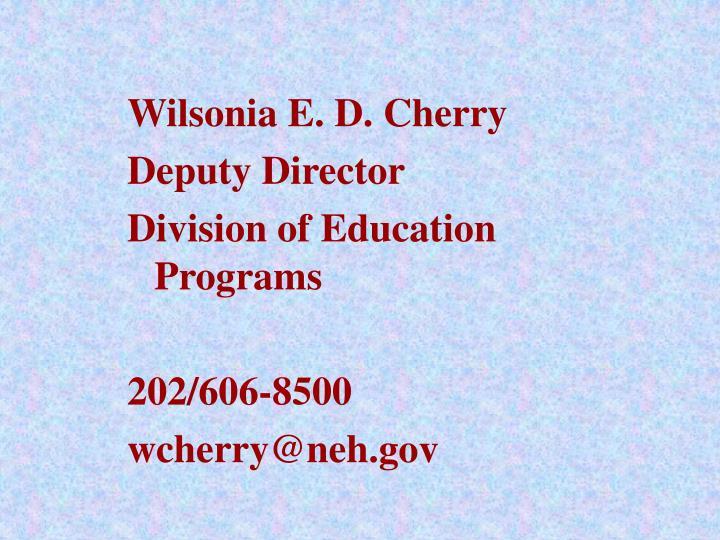 Wilsonia E. D. Cherry