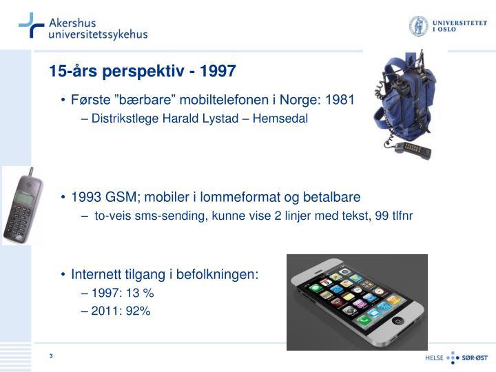 15-års perspektiv - 1997