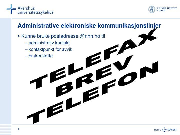 Administrative elektroniske kommunikasjonslinjer