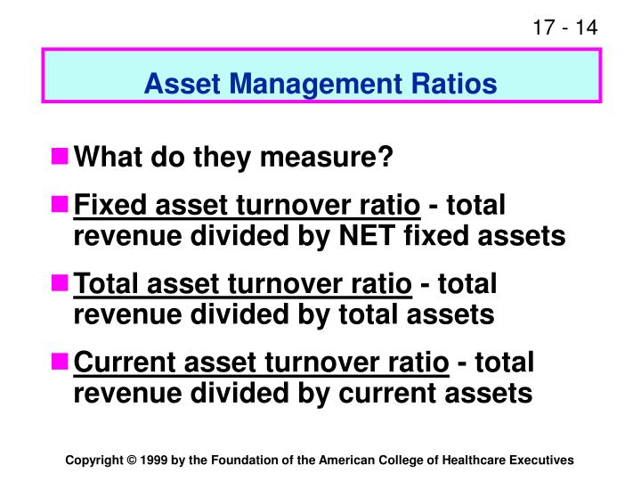 Asset Management Ratios