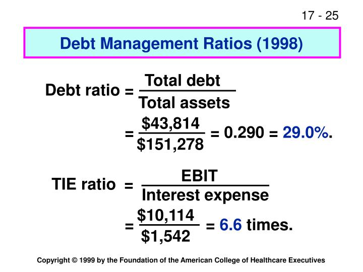 Debt Management Ratios (1998)