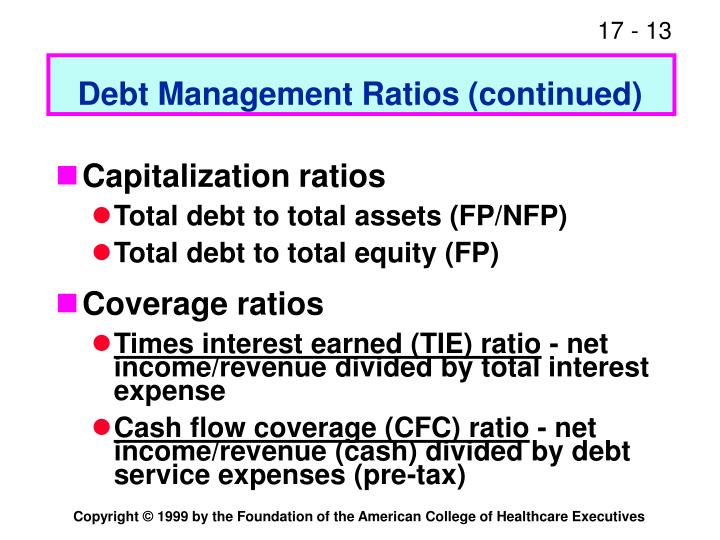 Debt Management Ratios (continued)