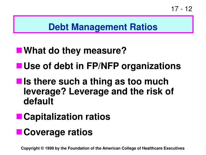 Debt Management Ratios