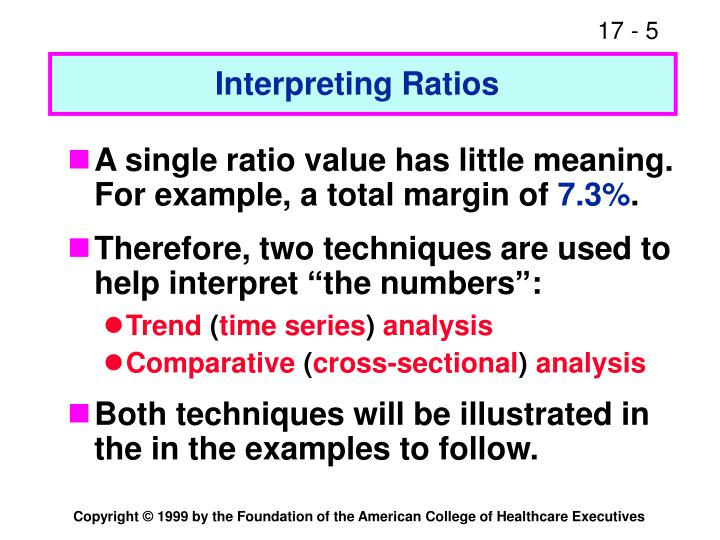 Interpreting Ratios
