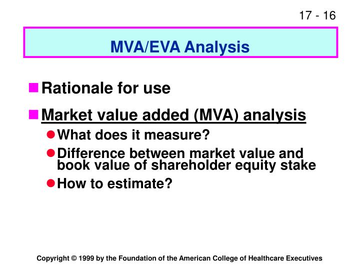 MVA/EVA Analysis