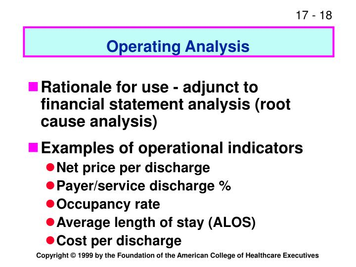 Operating Analysis
