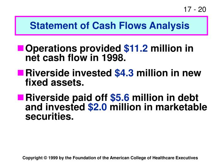 Statement of Cash Flows Analysis