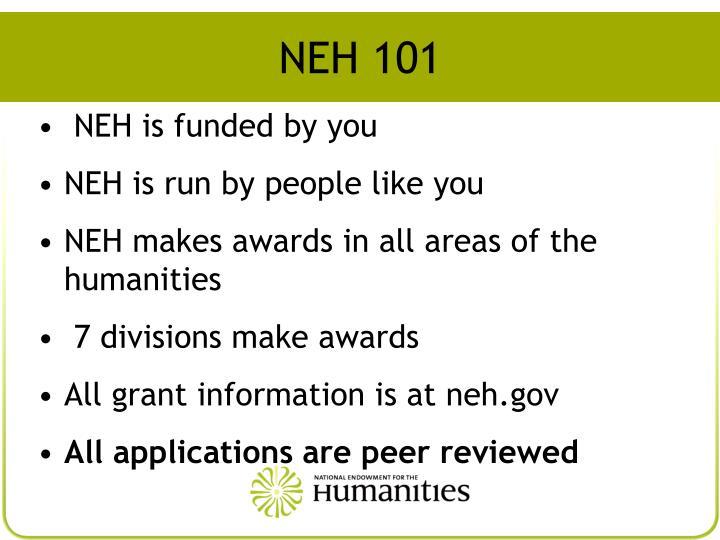 NEH 101