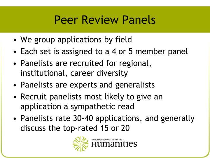 Peer Review Panels