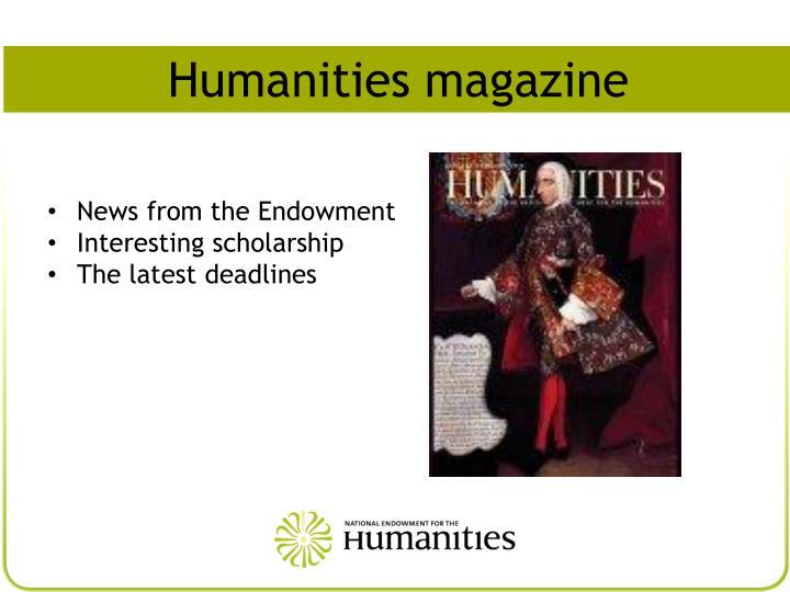 Humanities magazine
