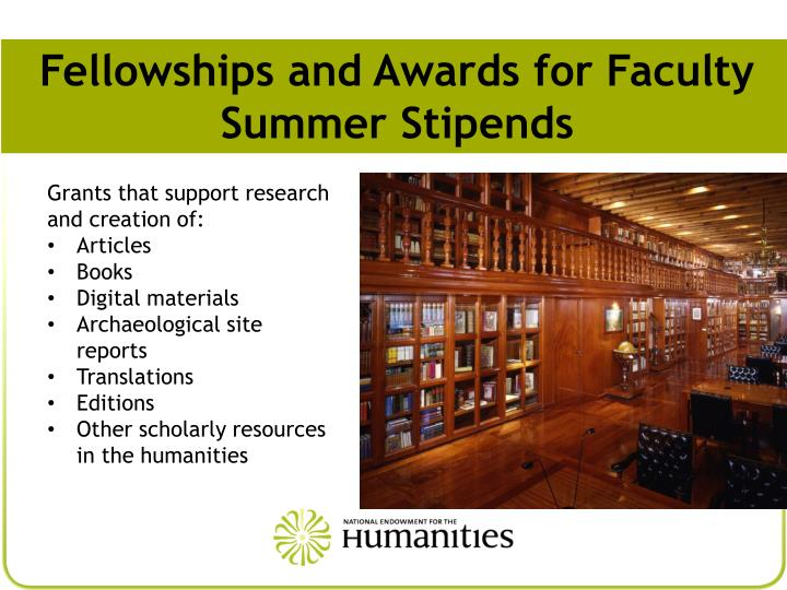 Fellowships and Awards for Faculty