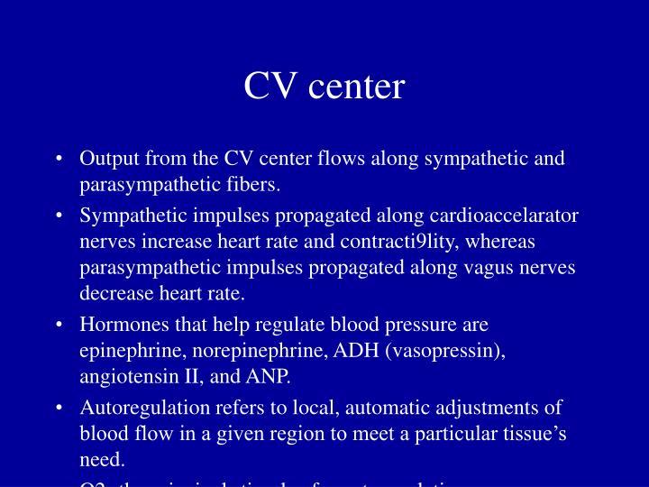 CV center