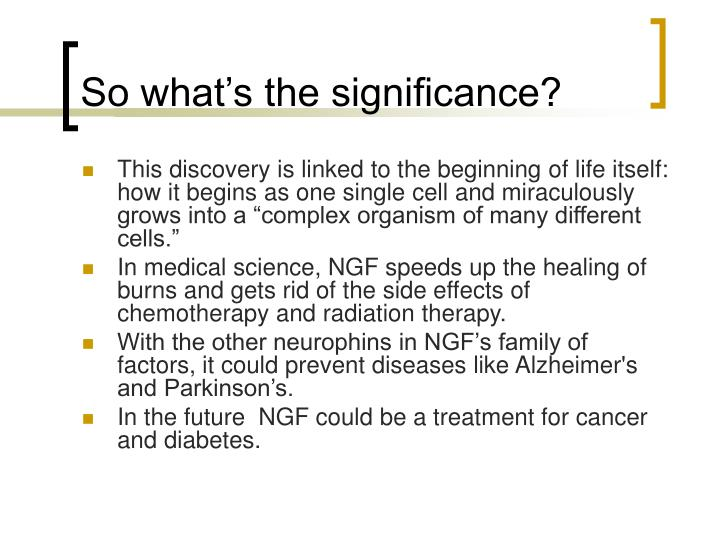 So what's the significance?