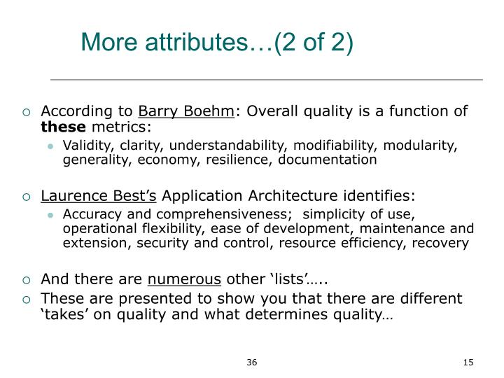 More attributes…(2 of 2)
