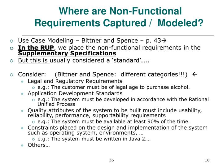 Where are Non-Functional Requirements Captured /  Modeled?
