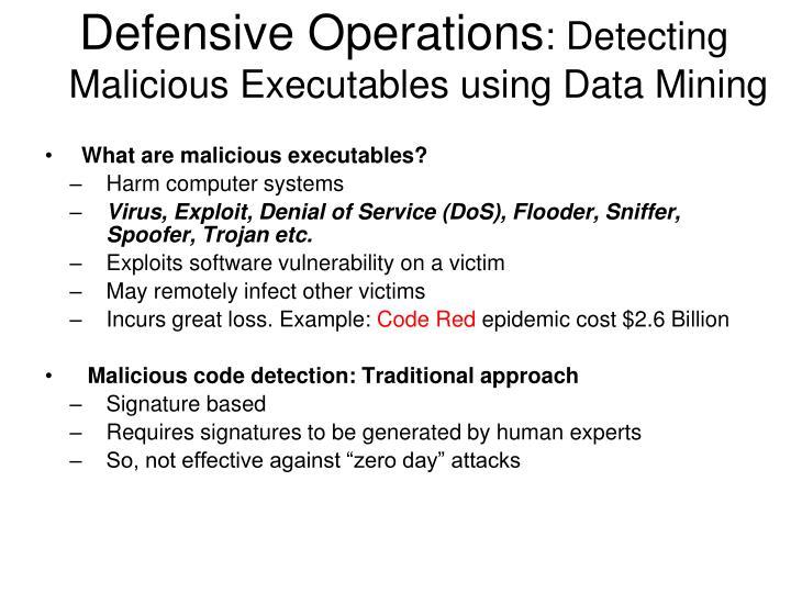 Defensive Operations