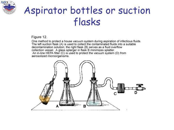 Aspirator bottles or suction flasks