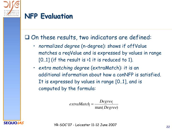 NFP Evaluation