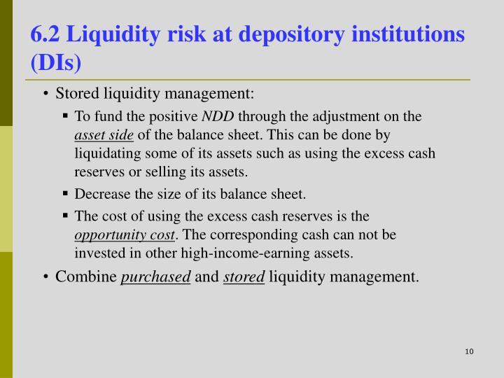6.2 Liquidity risk at depository institutions (DIs)