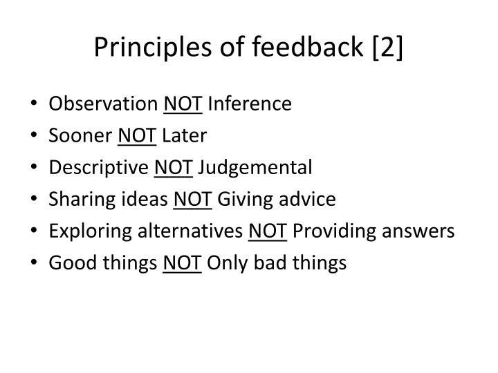 Principles of feedback [2]