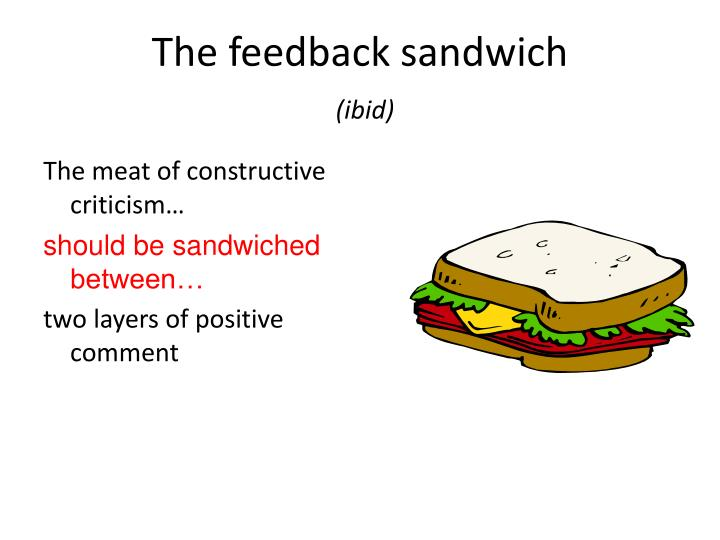 The feedback sandwich