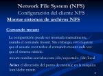 network file system nfs configuraci n del cliente nfs1
