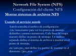 network file system nfs configuraci n del cliente nfs4