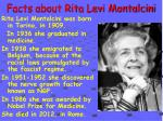 facts about rita levi montalcini