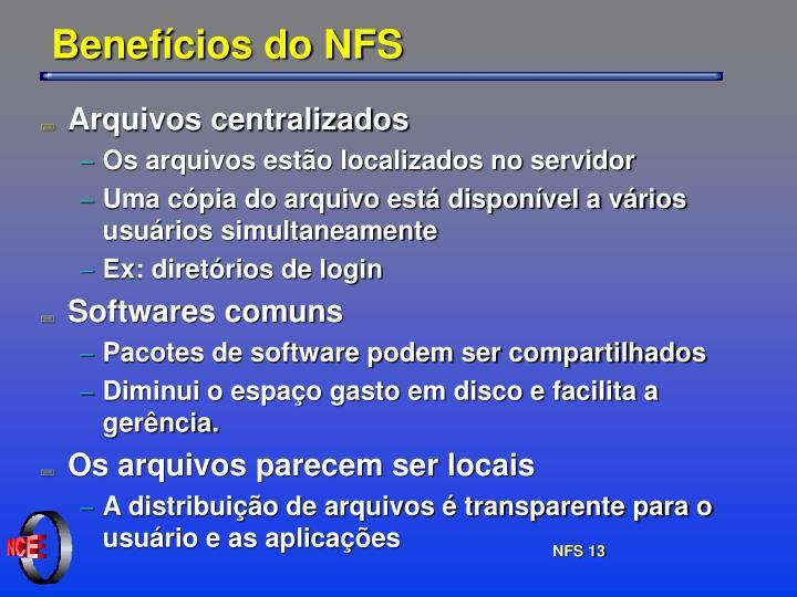 Benefícios do NFS