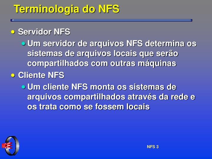 Terminologia do NFS