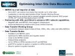 optimizing inter site data movement