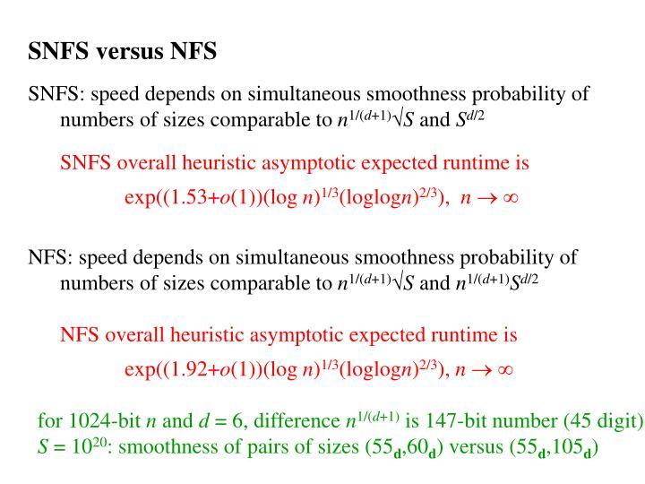 SNFS versus NFS
