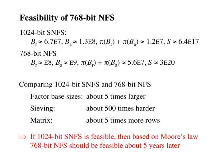 Feasibility of 768-bit NFS