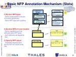 basic nfp annotation mechanism slots