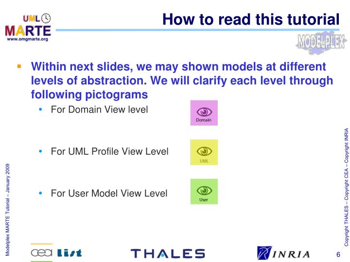 How to read this tutorial