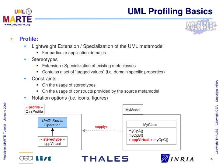 UML Profiling Basics