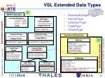 vsl extended data types